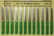 12pc Fixwell Knives - New! Official Listing with Factory Warranty - Made in Germany - Stainless Steel - Green