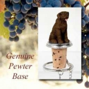 Labrador Retriever Chocolate Wine Bottle Stopper