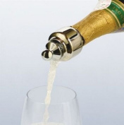 Automatically Closing Champagne Pourer and Stopper