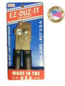 Made in USA EZ-DUZ-IT Can Opener with Black Grips