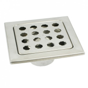 7.5cm Square Drain Outlet Stainless Steel Floor Drain for Kitchen