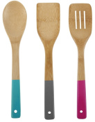 Core Bamboo Bamboo and Silicone 3-Piece Utensil Set, Los Angeles