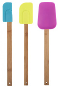Core Bamboo 7589 Bamboo and Silicone 3-Piece Utensil Set, Madrid