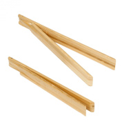 Enrico Bamboo Spring Tongs, Natural Blonde