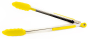 Zeroll Ussentials 8870LY Stainless Steel Locking Tongs, Lemon Yellow