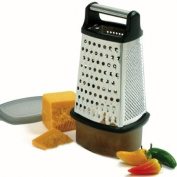 Norpro Stainless Steel 4 Sided Cheese Carrot Food Grater Shredder w/ Catcher NEW