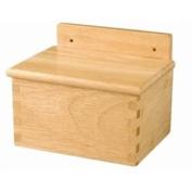 Wooden Salt Box - 12.6(W) x 16.3(L) x 9.4(H)cm.