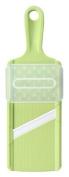 Green ceramic Kyocera slicer with safety guard