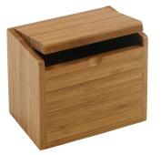 Meadowsweet Kitchens Bamboo Recipe Card Box, Brown