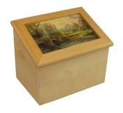 "THOMAS KINKADE ""Cobblestone Evening"" Wooden Recipe Box"