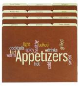 Recipe File Folders - Wordle