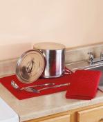 Drymat Kitchen Dry Mat 2 PACK RED
