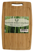 Da Vinci Natural Bamboo Cutting Board with Handle & Groove - 38.1cm x 23.9cm , 1.8cm Thick