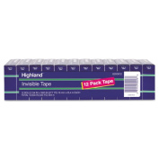 """Invisible Tape, 3/4"""" x 1000"""", 1"""" Core, 12/Pack"""