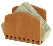 Lipper International Napkin Holder, Bamboo Adjustable