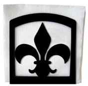 Village Wrought Iron NH-121 Fleur-de-lis Napkin Holder