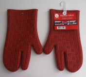 Set of 2 Silicone Glove Oven Mitts
