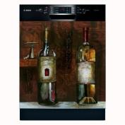 Old World Wine Dishwasher Magnet Cover