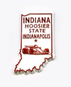Indiana The Hoosier State United States Fridge Magnet