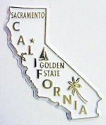 California The Golden State United States Fridge Magnet