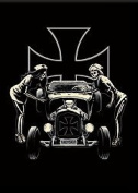 Artist Marco Almera Psychobilly Skeletons Rat Rod Fridge Magnet