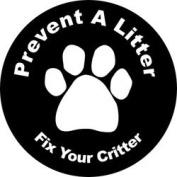Prevent a Litter, Fix Your Critter Circle Magnet