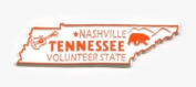 Tennessee The Volunteer State Outline United States Fridge Magnet
