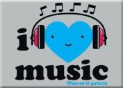 David & Goliath I Heart Music Magnet 29667DG
