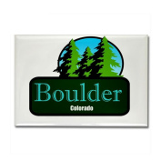 Boulder Colorado t shirt truck stop novelty Rectan Rectangle Magnet by CafePress