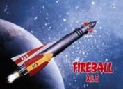 Fireball XL5 steel fridge magnet