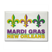 Mardi Gras Rectangle Magnet by CafePress