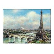 Souvenirs of France - Eiffel Tower Metal Magnet 9cm x 6.5cm