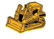 Construction Bulldozer Fridge Magnet