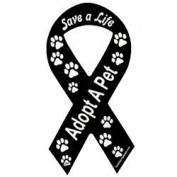 Save a Life Adopt a Pet Black Ribbon Magnet