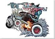 Artist BigToe Monster Burn Out Hot Rod Fridge Magnet