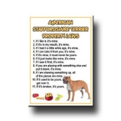American Staffordshire Terrier Property Laws Fridge Magnet