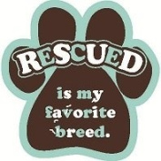 Rescued is My Favourite Breed Paw Magnet