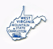 West Virginia The Mountain State United States Fridge Magnet