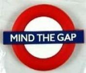 Fridge Magnets Mind The Gap (London Transport) Rubber Fridge Magnet