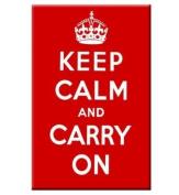 Keep Calm & Carry On steel fridge magnet
