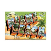 Greetings from Miami Beach Florida Fridge Magnet