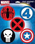 Marvel Universe Logos Five Magnet Set