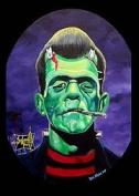Artist Ben Von Strawn Franken-Stogy Rockabilly Frankenstein Fridge Magnet