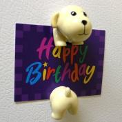 Dog Shape Magnet Clip - Golden Lab