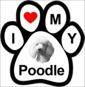 I Love My Breed Paw Magnet- Poodle