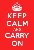 Keep Calm & Carry On fridge magnet
