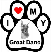 I Love My Breed Paw Magnet- Great Dane