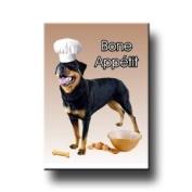 Rottweiler Bone Appetit Kitchen Chef Fridge Magnet No 2