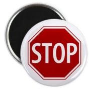 SERVICE DOG Red STOP SIGN Alert 5.7cm Fridge Magnet