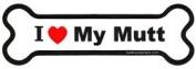 I Love My Mutt Bone Magnet